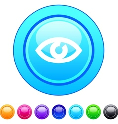 Eye circle button vector image