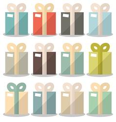 Flat Design Gift Boxes Set vector image