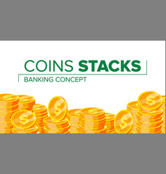 gold coins making money financial vector image vector image