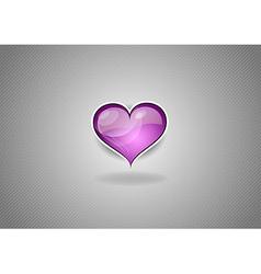 Heart grey background pink vector