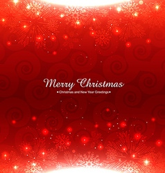 shiny red christmas background vector image