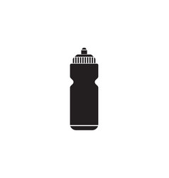 sport bottle water solid icon hydro flask vector image