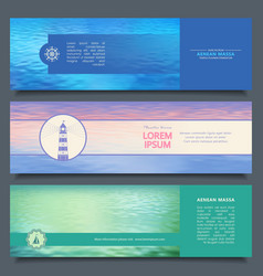 water banners vector image