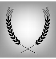 Wheat flat icon vector