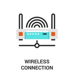 wireless connection icon vector image