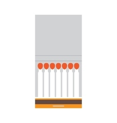 Opened blank book of matches vector