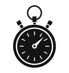 Stopwatch icon simple style vector