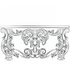 Fabulous rich rococo desk table vector