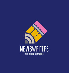 news writers rss feed services abstract vector image