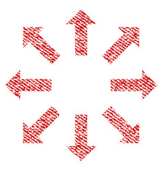 Explode arrows fabric textured icon vector