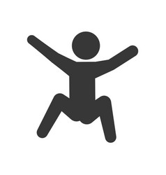 Pictogram man silhouette doing exercise vector