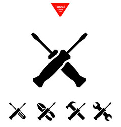 service tools icons with screwdriver vector image