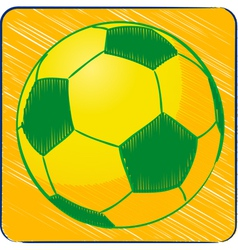 Football brazil sketch background vector