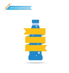 Infographics Drinks Business vector image
