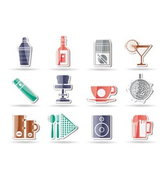 Bar and drink icons vector