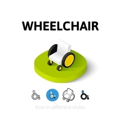 Wheelchair icon in different style vector