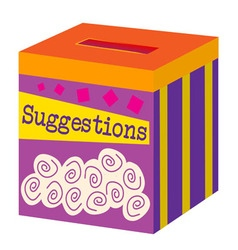 A suggestion box vector