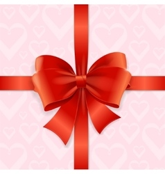 Bow background heart vector