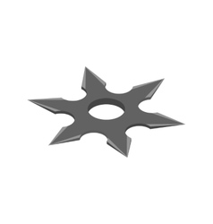 Shuriken isometric 3d icon vector