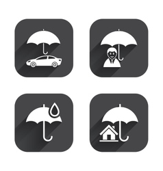 Life real estate or home insurance icon vector