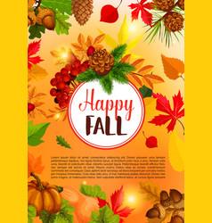 autumn season and thanksgiving day banner design vector image vector image