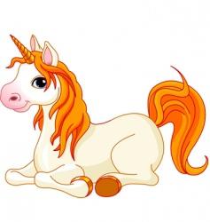 beautiful unicorn vector image vector image