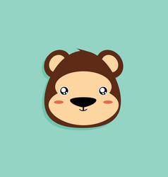 Cartoon monkey face vector