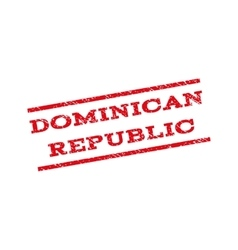 Dominican Republic Watermark Stamp vector image