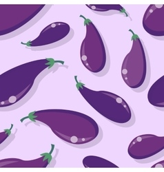 Eggplant Seamless Pattern in Flat Design vector image vector image