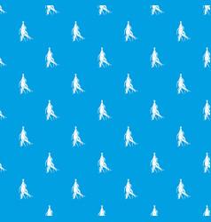 Ginseng panax root pattern seamless blue vector