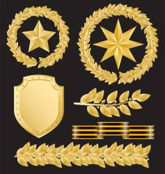 Gold laurels vector
