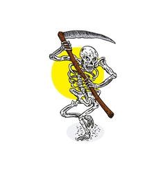 Grim reaper skeleton stance vector
