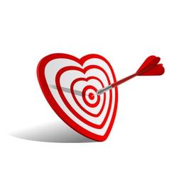 heart dart vector image