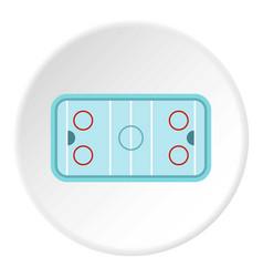 Ice hockey rink icon circle vector