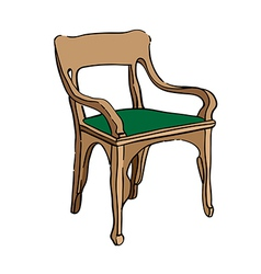 jugendstil chair vector image vector image