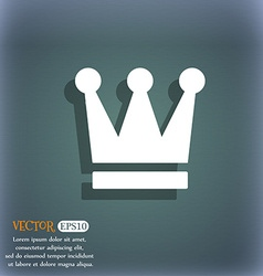 King crown icon symbol on the blue-green abstract vector