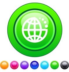 Planet circle button vector image vector image