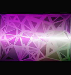 Purple green pink random sizes low poly background vector