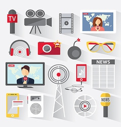 Set of icons telecommunications vector image