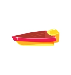 Simple Engine Toy Boat vector image