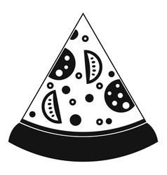 Slice of pizza icon simple style vector