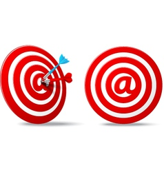 Social media red darts target aim vector