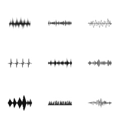 Sound track icons set simple style vector