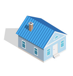 three dimensional icon of small isometric house vector image
