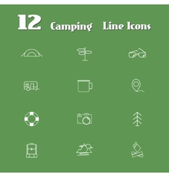 Travel line icons for web and mobile minimalistic vector