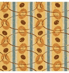 Vintage Pattern with Ovals vector image vector image