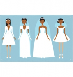 Wedding dresses vector