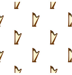Wooden harp pattern seamless vector