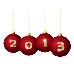Glass Christmas Balls 2013 vector image