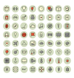 icons for leisure travel and sport vector image